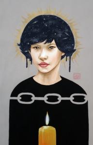 light paintings by artist Sara Drescher