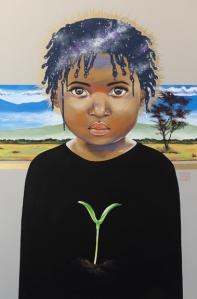 Seed paintings by artist Sara Drescher