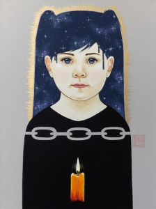 Painting by artist Sara Drescher for the Seeds and Light Project